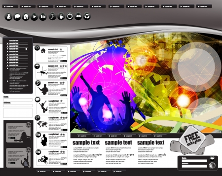 Party Website Template  Vector