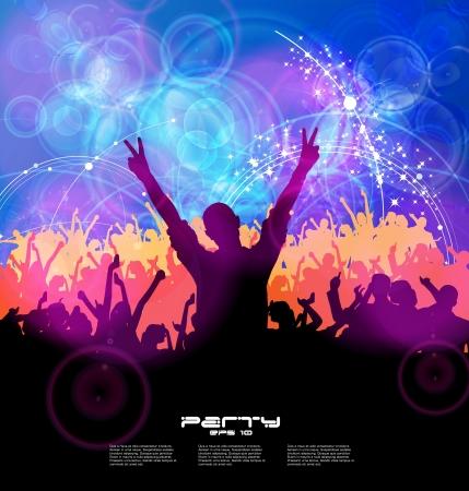 disco parties: Personas bailando