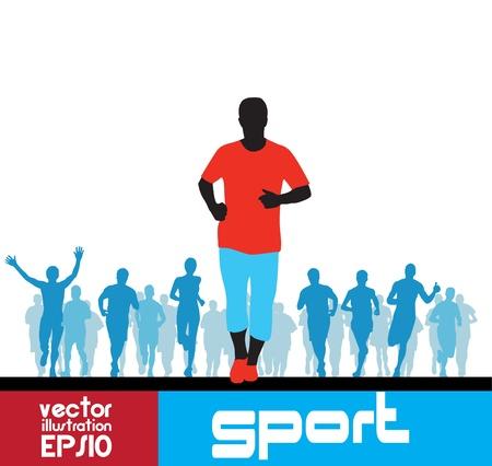 Marathon runners man