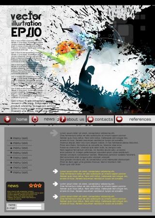 Web design template Stock Vector - 16718058