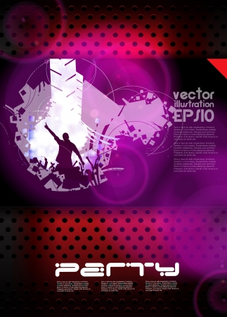 Music event poster Vector
