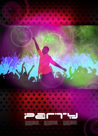 disco light: Music event poster