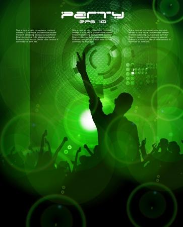 Dancing people  Vector Stock Vector - 16718053
