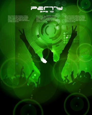 Dancing people  Vector Stock Vector - 16718060