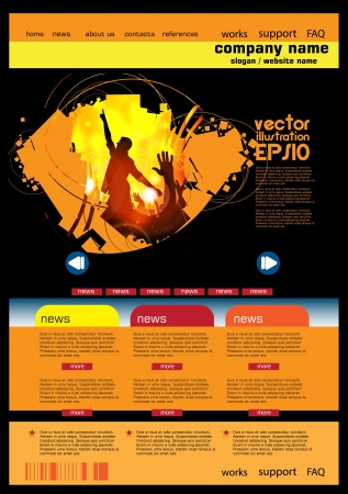 Web site layout. Stock Vector - 16631923