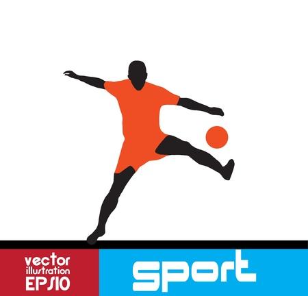 Soccer Player Stock Vector - 16667740