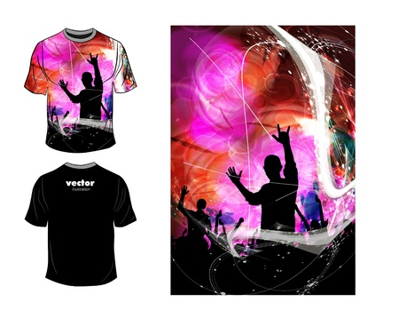 T-shirt design. Vector Vector