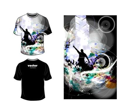 raglan: T-shirt design. Vector