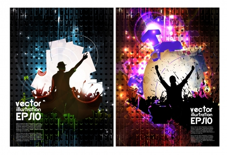 Concert posters collection. Vector illustration  Vector