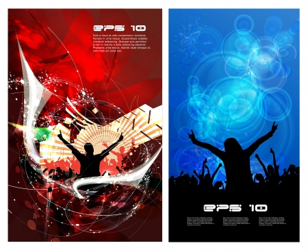 Music event posters. Vector Vector
