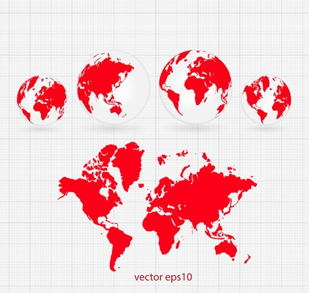 World map Stock Vector - 16690470