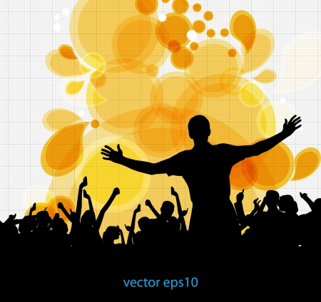 Music dance background Vector