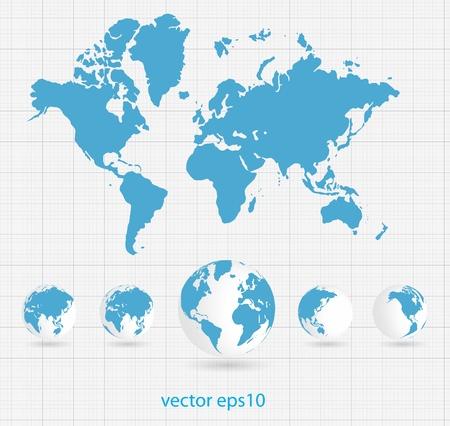 globe earth: World map