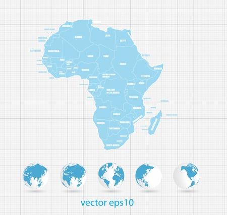 mapa de africa: Mapa del mundo Vectores