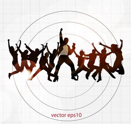 baile moderno: M�sica de fondo danza Vectores