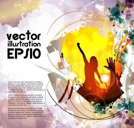grunge music background: Music event background  Vector eps10 illustration