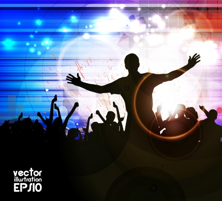 youth group: Music event illustration  Vector  Illustration