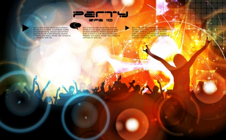disk jockey: Music event poster