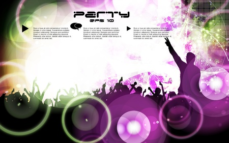 dancing disco: Music illustration