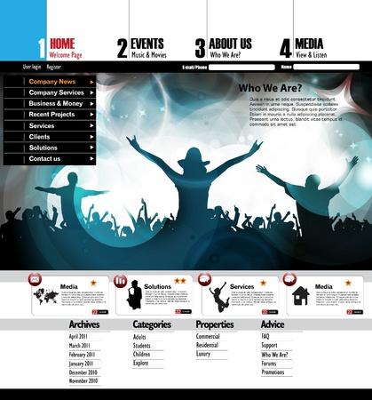 Web design template Stock Vector - 16737456