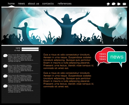 adoring: Website template with music event subject