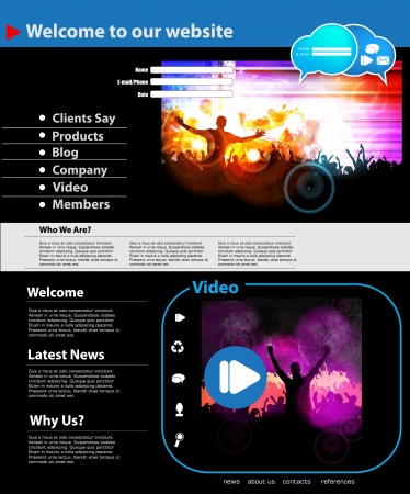 Web site layout Stock Vector - 16737678