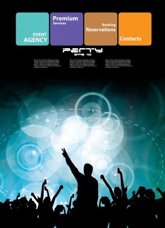 Night club. Dancing people.  Stock Vector - 16736929