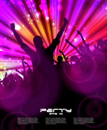 Night club. Dancing people.  Stock Vector - 16737506