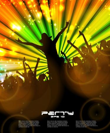 Night club. Dancing people.  Stock Vector - 16737501
