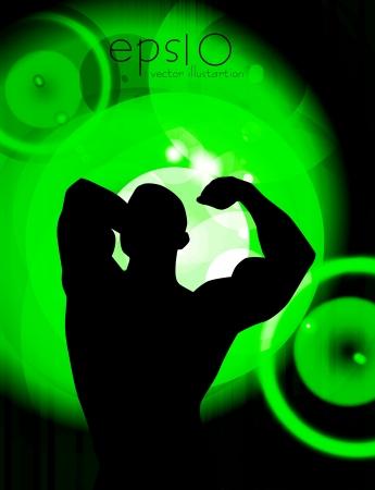 Bodybuilding  Vector illustration  Stock Vector - 16953538