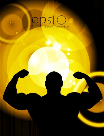 Bodybuilding  Vector illustration  Vector
