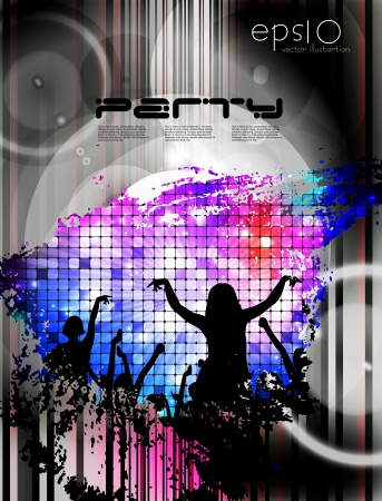Music event illustration  Vector Vector