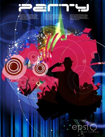 Music event illustration  Vector Vector