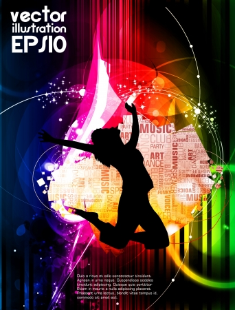 Party dance poster design Vector