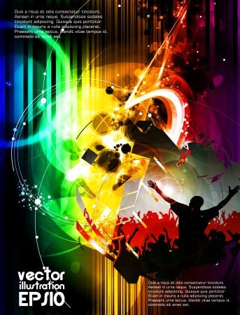 Music event illustration  Vector