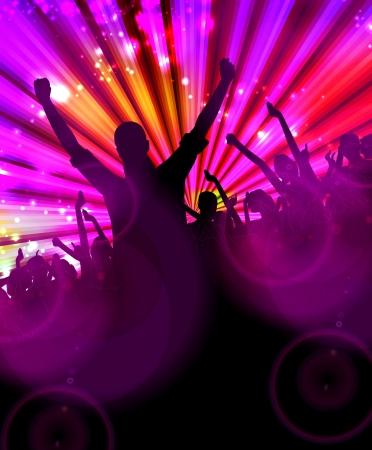 disco parties: Discoteca ilustraci?