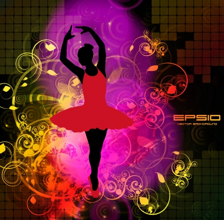 Ballet  Vector illustration Vector