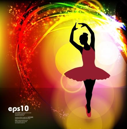 Ballet  Dancing illustration  Vector  Vector