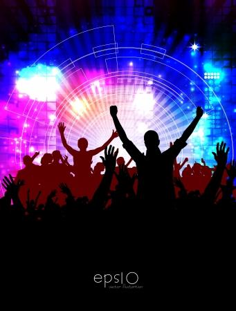 ensemble: Music event illustration  Vector