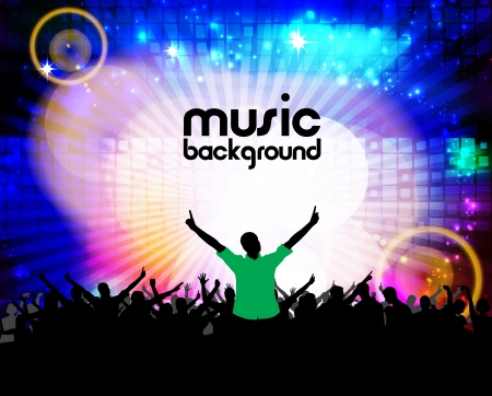 Music event illustration  Vector Stock Vector - 17014596