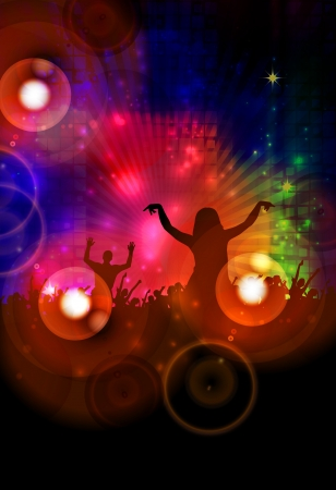 Dancing people  Party background for poster  photo