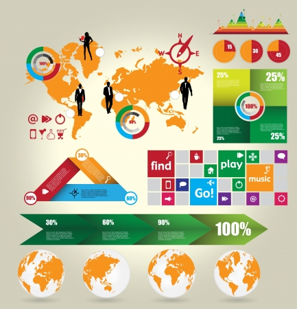 Infographic elements vector collection Stock Vector - 16926747
