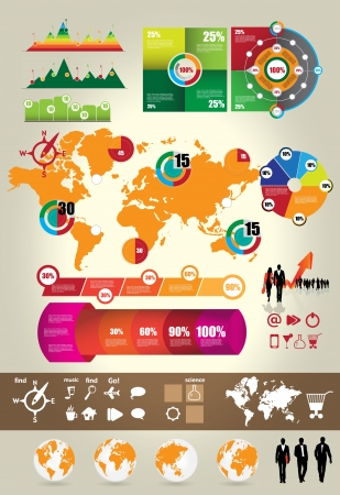 Infographic elements vector collection Vector