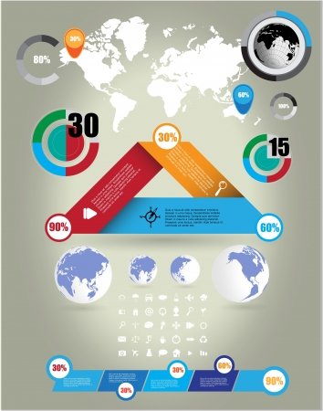 World Map and Information Graphics Stock Vector - 16926742