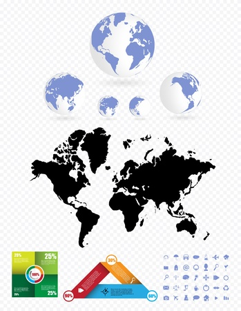 World Map and Information Graphics Stock Vector - 16926746