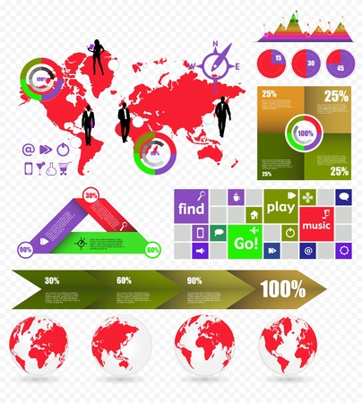 World Map and Information Graphics Stock Vector - 16926748