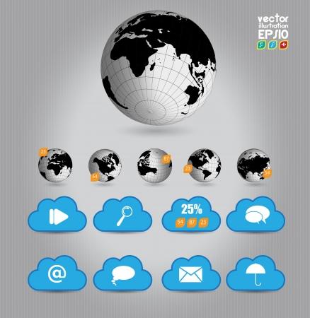 Cloud concept Stock Vector - 16959154