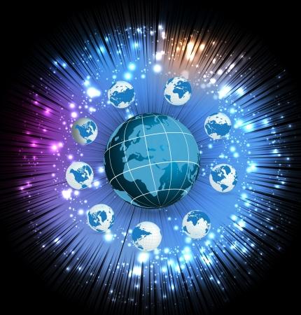 World globe Stock Vector - 16983121