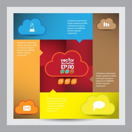 Cloud computing concept Stock Vector - 16983011