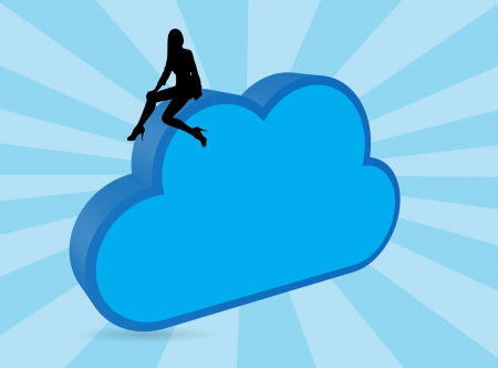 Blue cloud concept Vector